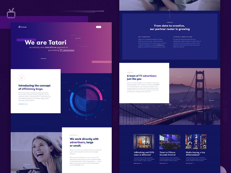 Landing Page design by Mason Yarnell