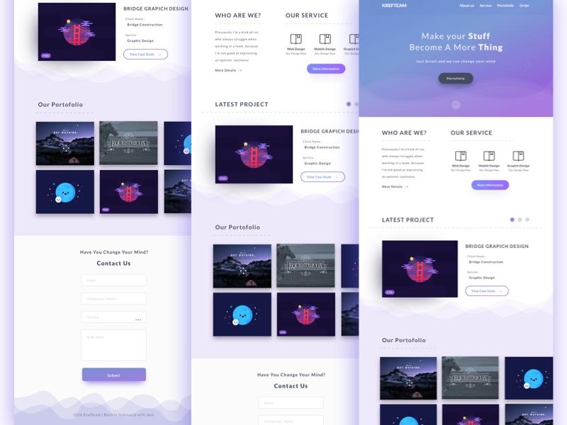 Landing page design by Aris Prabowo